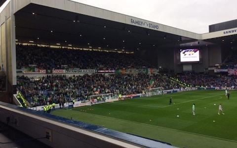 Celtic fans at Ibrox - Credit: Roddy Forsyth