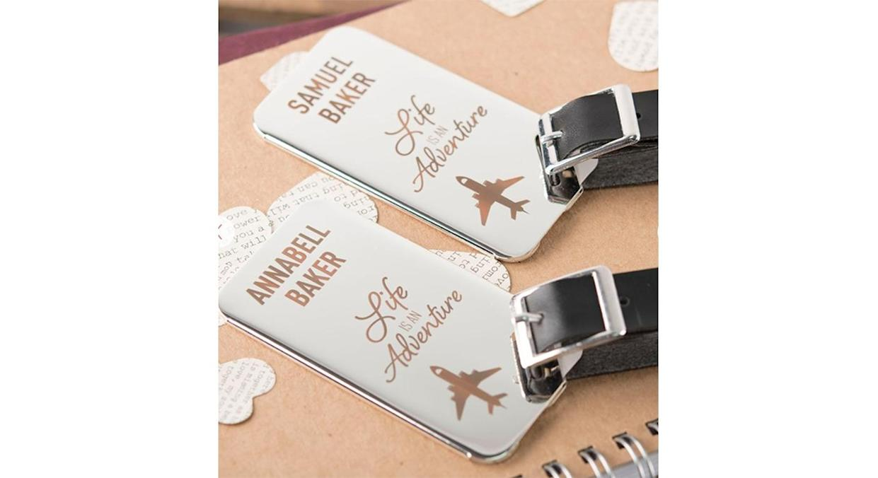 Personalised Stainless Steel Luggage Tags (Getting Personal)