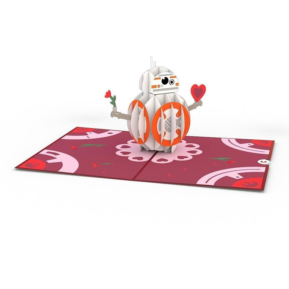 "<p>Serious <em>Star Wars</em> fanatics will swoon over this sweet 3D BB-8 card.</p><br><br><strong>lovepop</strong> BB-8™ Mine 3D card, $15, available at <a href=""https://www.lovepopcards.com/products/star-wars-bb-8-mine-pop-up-card"" rel=""nofollow noopener"" target=""_blank"" data-ylk=""slk:lovepop"" class=""link rapid-noclick-resp"">lovepop</a>"