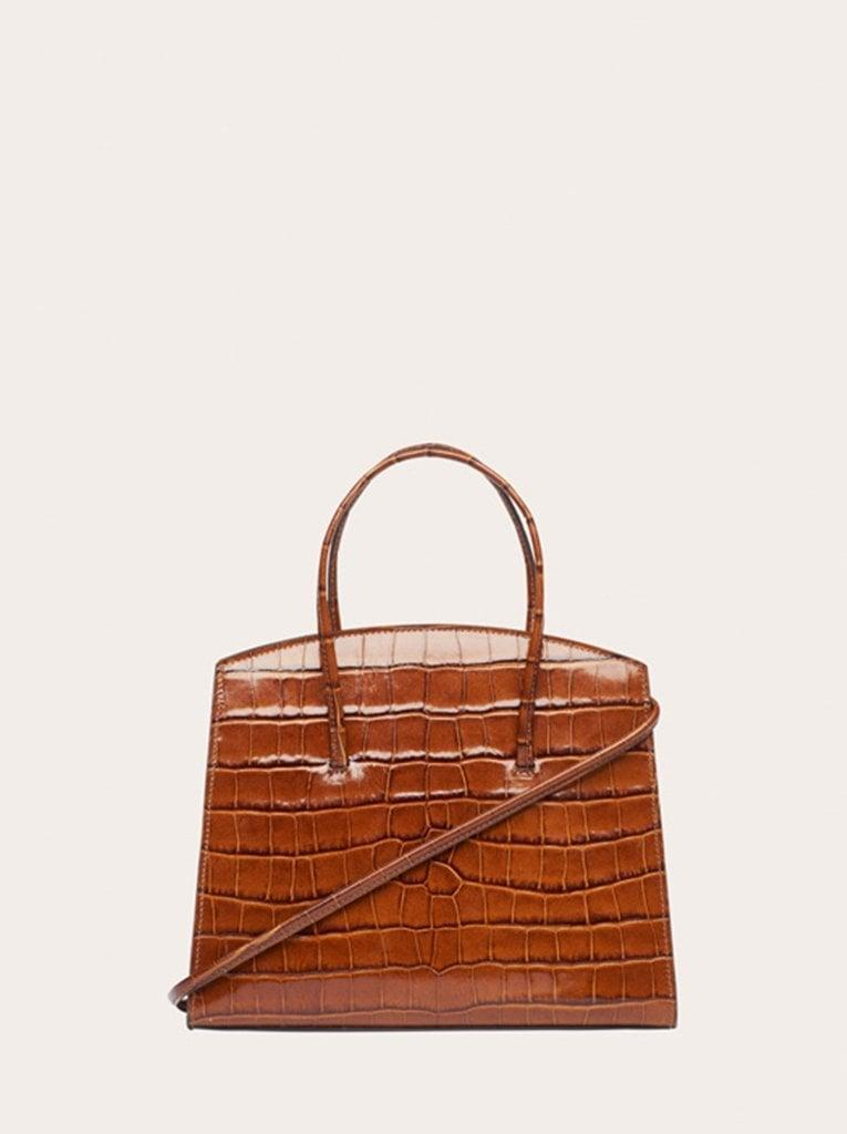 <p>The <span>Minimal Mini Tote Brown Croc-Embossed</span> ($395) is coming soon - and you can sign up to be notified when it's available.</p>
