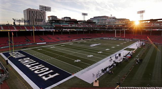 A new bowl game played at Fenway Park, home of the Boston Red Sox, will be part of the next college football bowl cycle, beginning in 2020. (AP Photo/Charles Krupa)