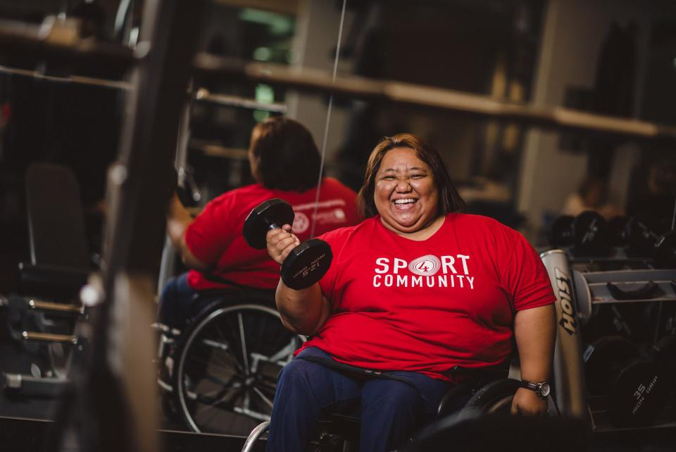 Para-powerlifter Adeline Dumapong, the Philippines' first Paralympic medallist. (PHOTO: Facebook)