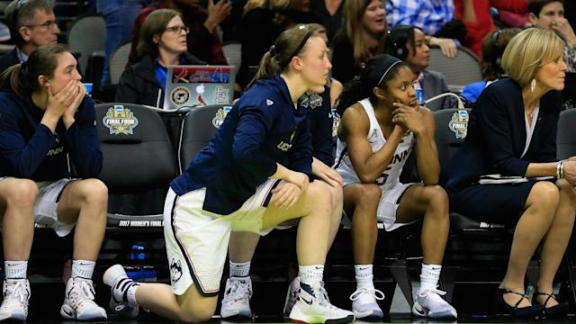 A gambler in Las Vegas lost $7,000 trying to win $100 as the UConn women's basketball team lost to Mississippi State on Friday.