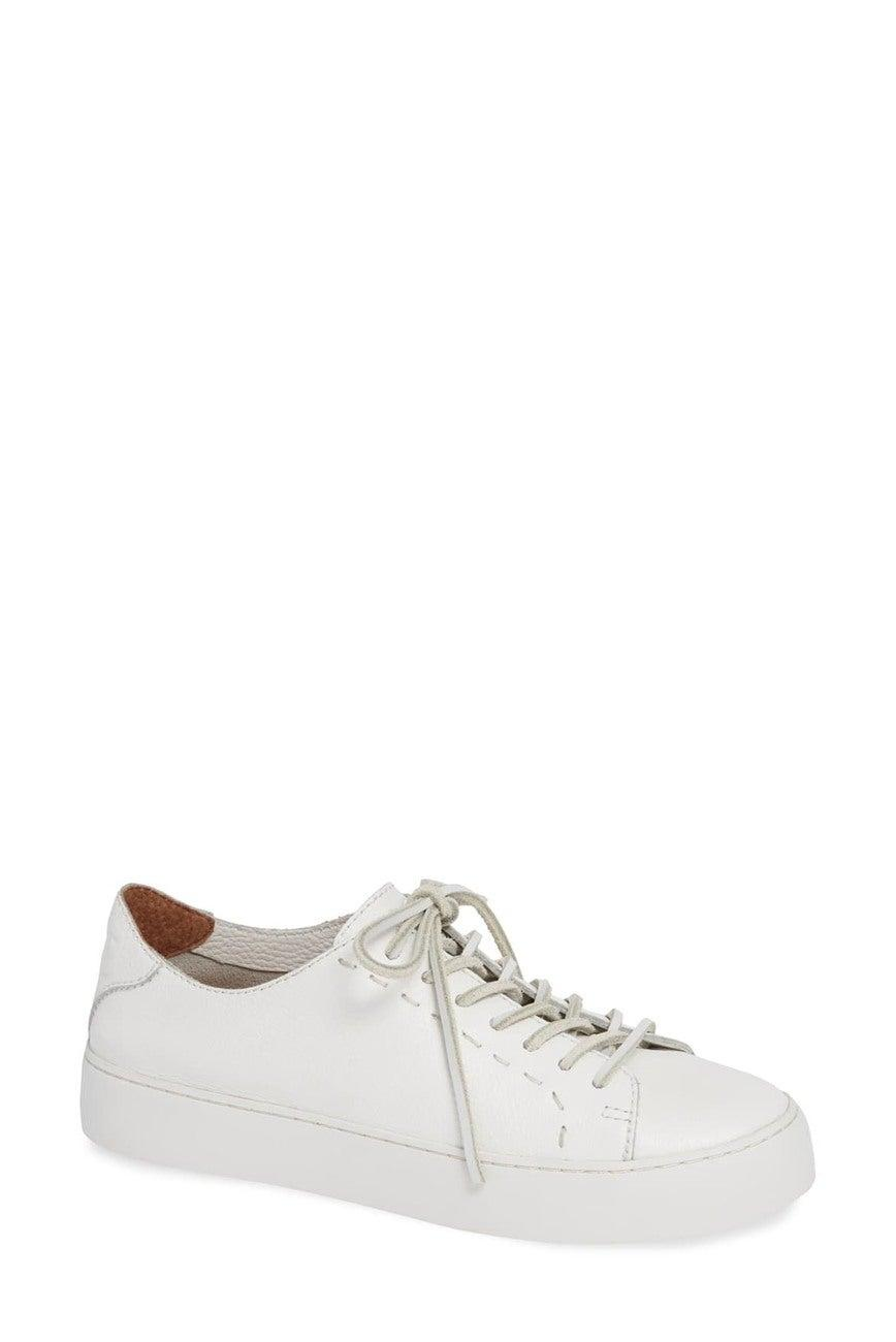 "<br><br><strong>Frye</strong> Lena Low Top Leather Sneaker, $, available at <a href=""https://go.skimresources.com/?id=30283X879131&url=https%3A%2F%2Fwww.nordstromrack.com%2Fshop%2Fproduct%2F2766732%2Ffrye-lena-low-top-leather-sneaker%3Fcolor%3DWHITE"" rel=""nofollow noopener"" target=""_blank"" data-ylk=""slk:Nordstrom Rack"" class=""link rapid-noclick-resp"">Nordstrom Rack</a>"