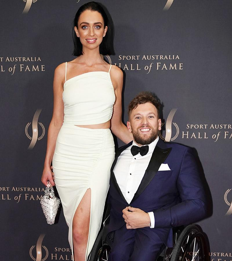 Chantelle Otten and Dylan Alcott, pictured here at the Sport Australia Hall of Fame Awards.