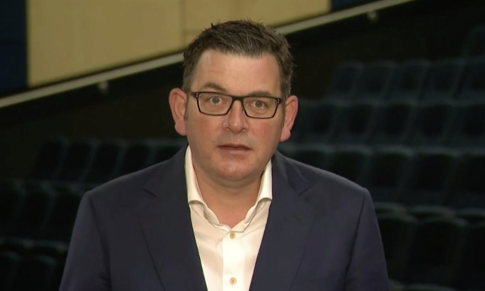 Dan Andrews cautiously celebrated the news this morning. Source: ABC News