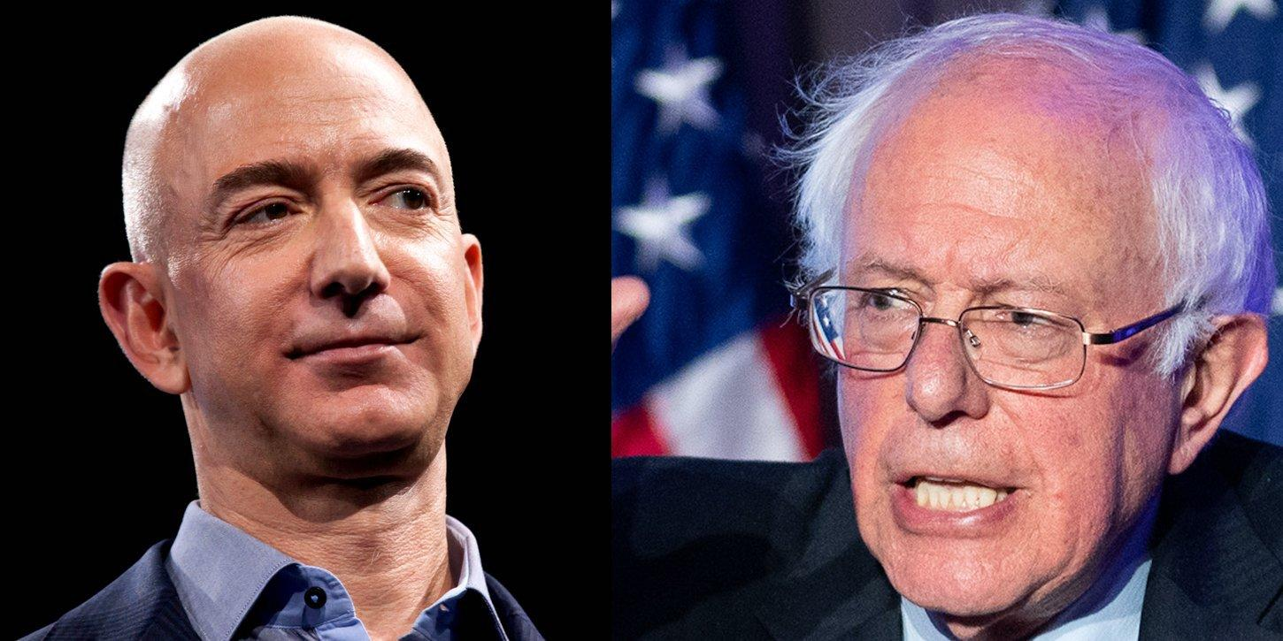 Amazon defends itself against Bernie Sanders' claims about workers' pay Adbc0f7bd6570c802362ca328cc58601