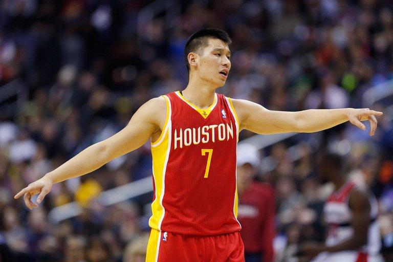 Jeremy Lin of the Houston Rockets at Verizon Center on February 23, 2013 in Washington
