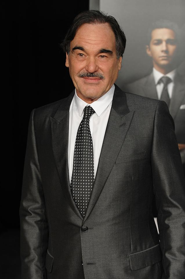 """<a href=""""http://movies.yahoo.com/movie/contributor/1800011649"""">Oliver Stone</a> attends the New York City premiere of <a href=""""http://movies.yahoo.com/movie/1810045848/info"""">Wall Street: Money Never Sleeps</a> on September 20, 2010."""