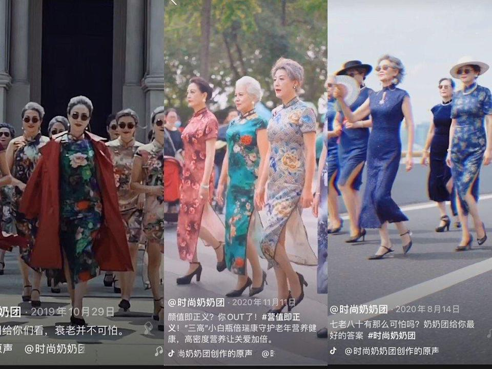 "Douyin's ""Fashion Grandma"" channel features Chinese senior citizens dressed in traditional Chinese outfits such as cheongsams. Photo: Handout"
