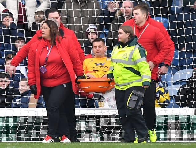 Aston Villa lost goalkeeper Tom Heaton to injury (Anthony Devlin/PA).