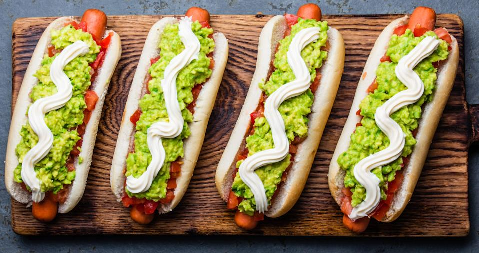 Chileans like their hot dogs with tomato, avocado and mayo.