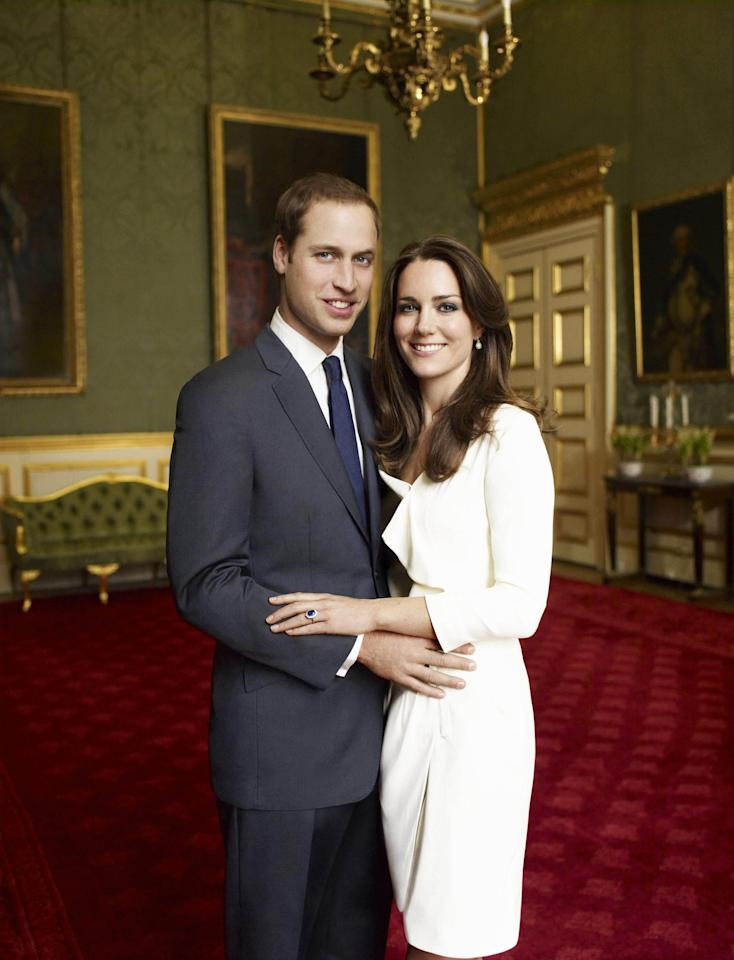 FILE - This is one of two official portrait photographs taken on Nov. 25, 2010 in the Council Chamber in the State Apartment in St James's Palace, London and released by Clarence House Press Office on Sunday Dec. 12, 2010 to mark the engagement of Britain's Prince William, left, and Catherine Middleton, right. Poor Kate Middleton. She's not just marrying a future king. She's marrying all of us. Once upon a time, British subjects gazed upon their sovereigns from afar. Not any more. Members of the royal family are now Hollywood-style mega-celebrities _ their cellulite, receding hairlines and boozy nights out subject to the same relentless scrutiny as other A-listers. The monarchy has gained in star power, and perhaps lost in dignity, since William's mother, Princess Diana, burst into the royal family in a blonde blaze of charisma and changed it forever.