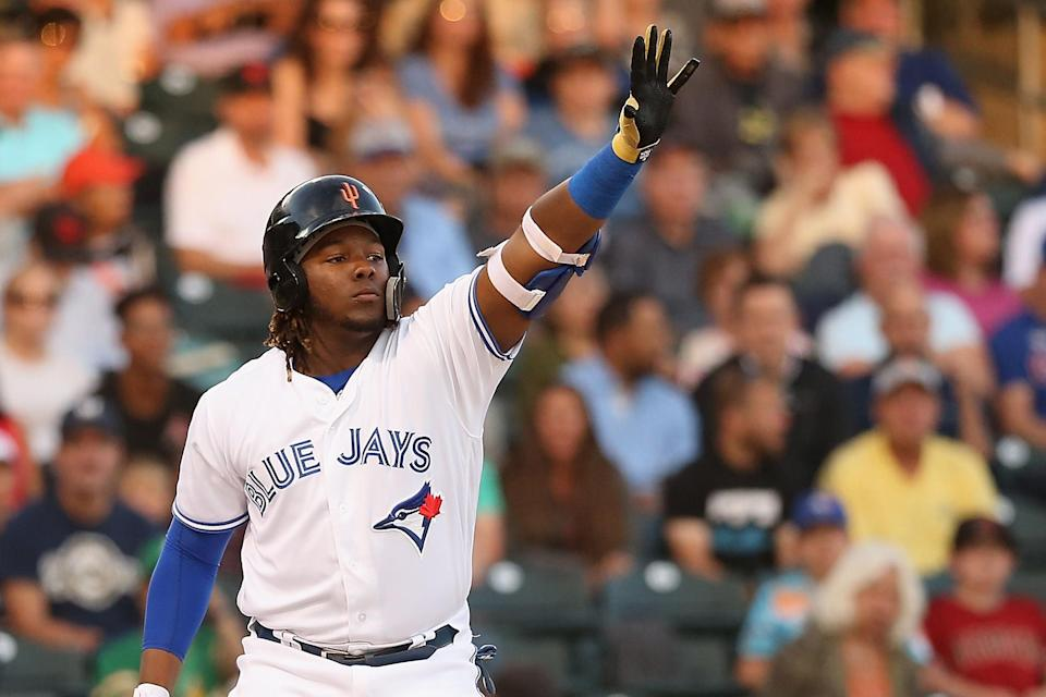 Vladimir Guerrero Jr. might have a short wait in the minors before the Blue Jays call him up, but he'll be worth the wait. (Photo by Christian Petersen/Getty Images)