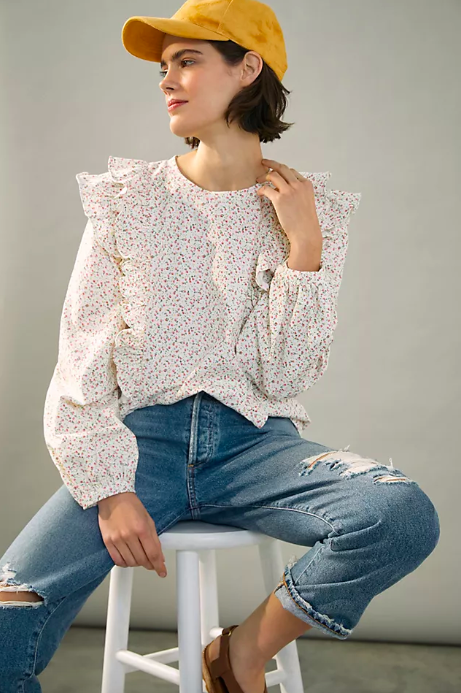 Allaire Ruffled Top. Image via Anthropologie.