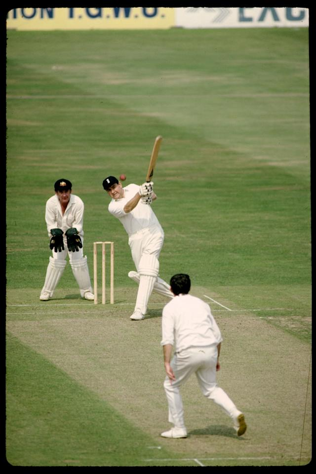 Aug 1980:  Colin Cowdrey of England batting for old England agaisnt old Australia at the Oval In London.  Mandatory Credit: Adrian Murrell/Allsport UK