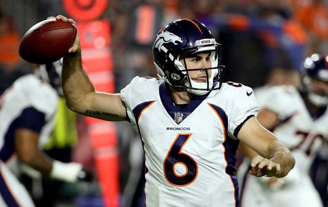Former Broncos QB Chad Kelly is trying out with the Indianapolis Colts. (AP Photo/Rick Scuteri)