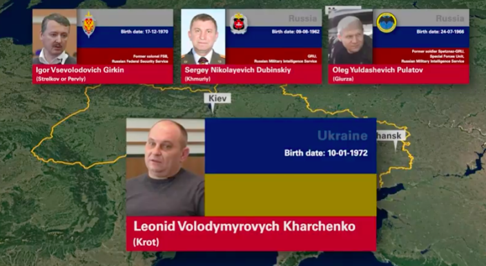 Igor Girkin, Sergey Dubinskiy, Oleg Pulatov and Leonid Karchenko - who have been charged with murder over the downing of MH17.