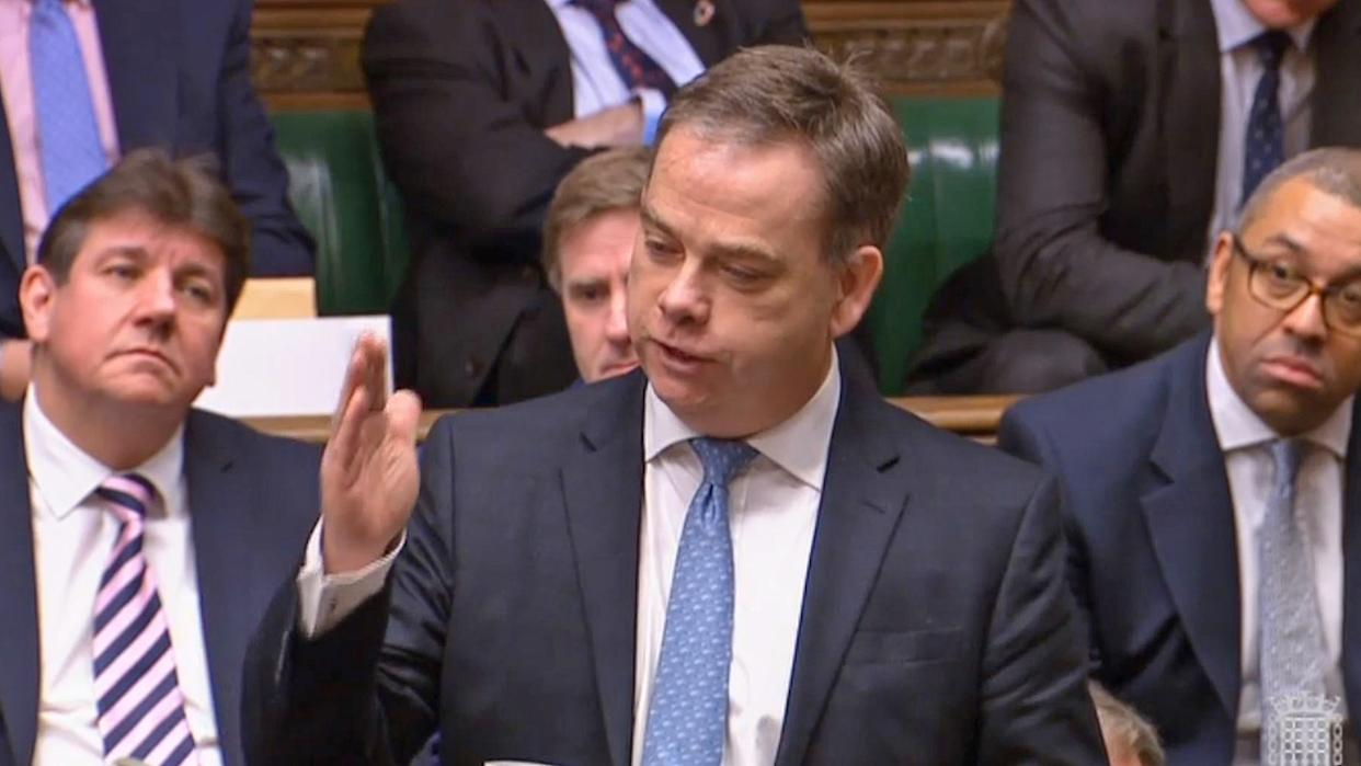 Foreign Office minister Nigel Adams speaks in the House of Commons. (PA)