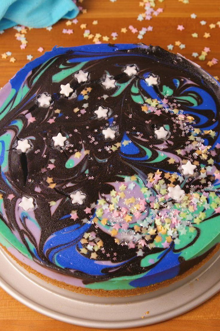 """<p>When you wish upon a star...</p><p>Get the recipe from <a href=""""/cooking/recipe-ideas/recipes/a52268/galaxy-cheesecake-recipe/"""" data-ylk=""""slk:Delish"""" class=""""link rapid-noclick-resp"""">Delish</a>.</p>"""