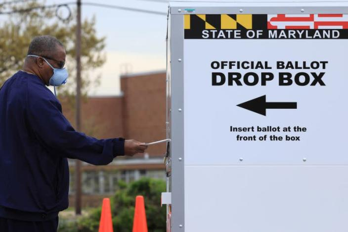 FILE PHOTO: Baltimore holds a special election for Maryland's 7th congressional district, at the Edmondson Westside High School Polling site in Baltimore, Maryland