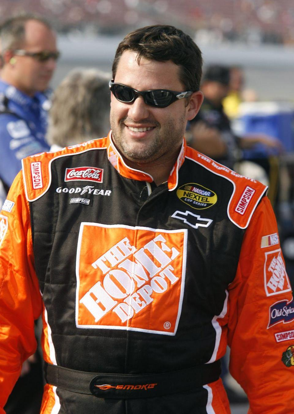"""<p>The race car driver and NASCAR team owner is another celebrity who used to work at McDonald's. According to the <a href=""""https://www.cedwardsgroup.com/team/famous-employees.html"""" rel=""""nofollow noopener"""" target=""""_blank"""" data-ylk=""""slk:Chuck Edwards Group"""" class=""""link rapid-noclick-resp"""">Chuck Edwards Group</a>, which oversees McDonald's business operations, Tony worked at McDonald's when he was a teenager.</p>"""