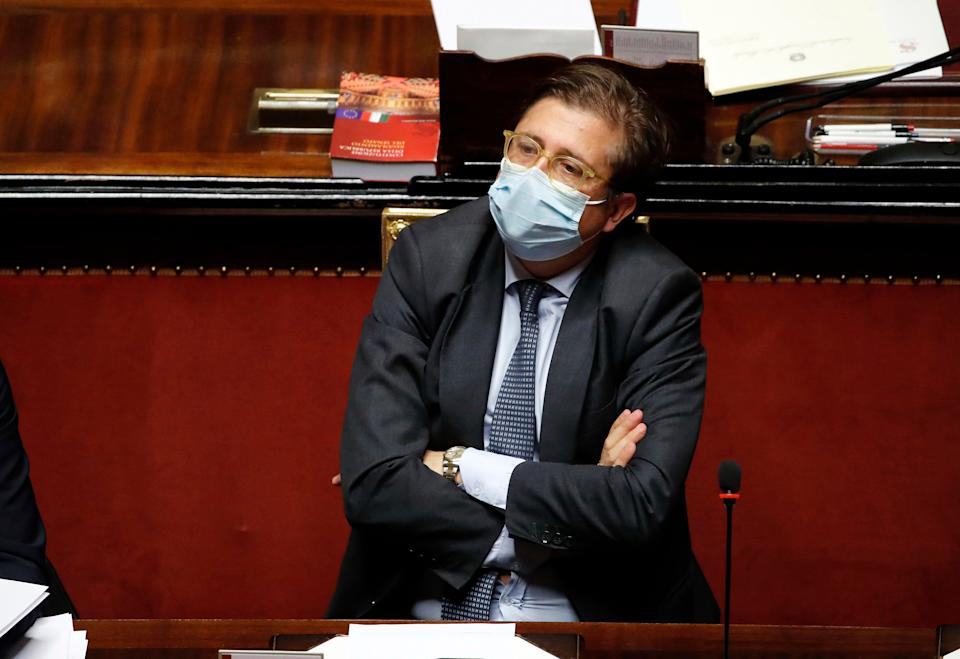 Deputy Minister of Health Pierpaolo Sileri during the briefing in the Senate Chamber of Premier Giuseppe Conte for the new phase relating to the epidemiological emergency from Covid-19. Rome (Italy), October 21st, 2020 (Photo by Massimo Di Vita/Archivio Massimo Di Vita/Mondadori Portfolio via Getty Images) (Photo: Mondadori Portfolio via Getty Images)