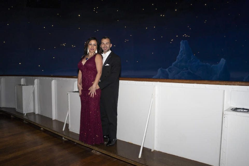 Jeremy Brown and Mori Madrid at the Titanic museum in Pigeon Forge, Tenn. (Photo: Titanic Museum Attraction)