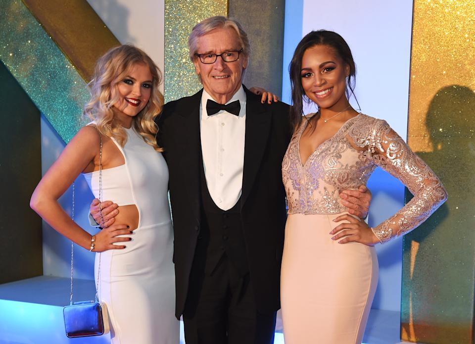 LONDON, ENGLAND - JANUARY 20:  (L to R) Lucy Fallon, Bill Roache and Tisha Merry attend the 21st National Television Awards at The O2 Arena on January 20, 2016 in London, England.  (Photo by David M. Benett/Dave Benett/Getty Images)