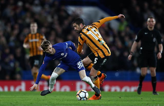 The 20-year-old came in in the second half of Chelsea's FA Cup triumph over Hull City