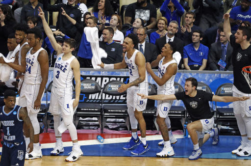 In Vegas, Duke is the favorite to win the NCAA tournament. (AP Photo)