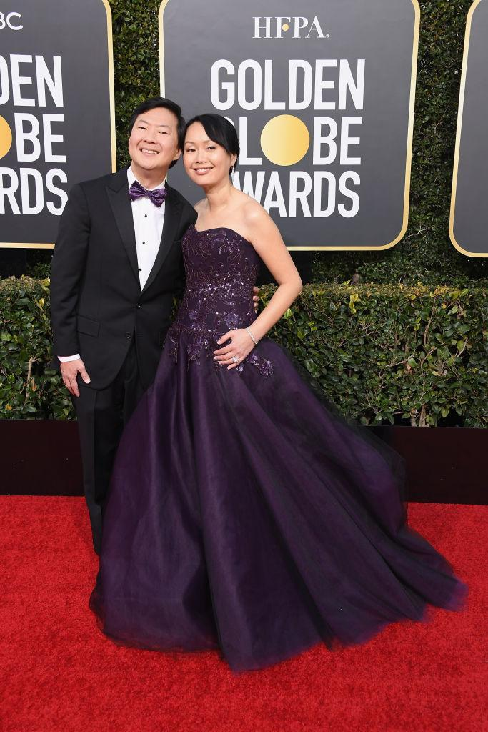 <p>Ken Jeong and Tran Jeong attend the 76th Annual Golden Globe Awards at the Beverly Hilton Hotel in Beverly Hills, Calif., on Jan. 6, 2019. (Photo: Getty Images) </p>