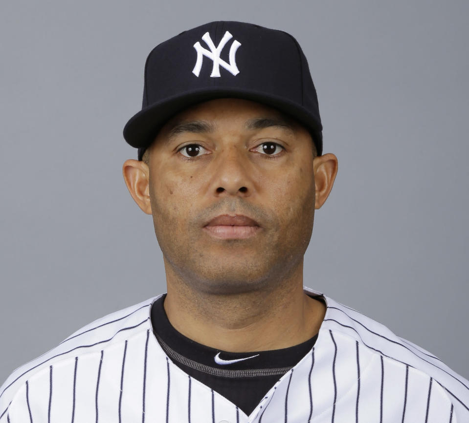 FILE - This is a 2013, file photo showing Mariano Rivera of the New York Yankees baseball team. Rivera has become baseballs first unanimous Hall of Fame selection, elected along with Roy Halladay, Edgar Martinez and Mike Mussina. Rivera received all 425 votes in balloting by the Baseball Writers Association of America. The quartet will be enshrined in Cooperstown along with Todays Game Era Committee selections Harold Baines and Lee Smith on July 21. (AP Photo/Matt Slocum, File)