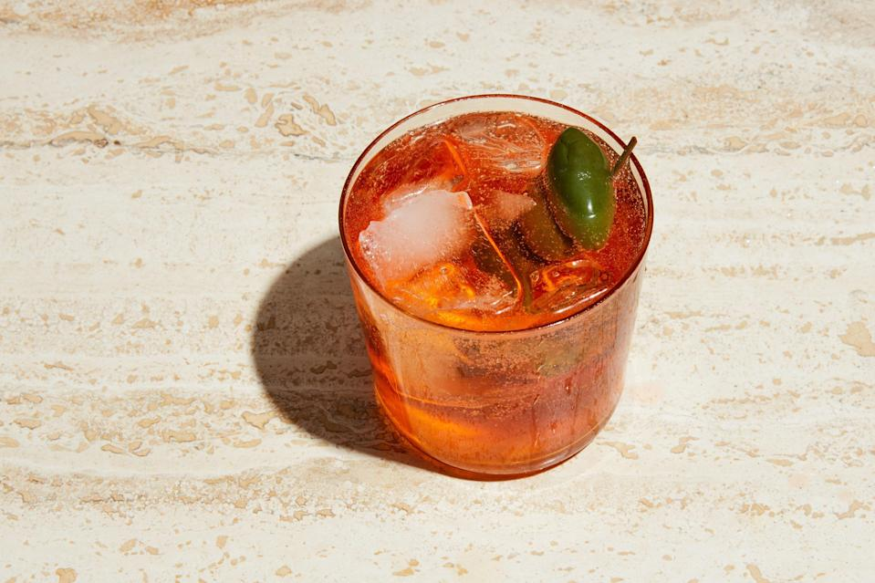 """We know this drink, we love this drink. And we have a few more of these drinks to drink before the season ends. Get on it. <a href=""""https://www.epicurious.com/recipes/food/views/aperol-spritz?mbid=synd_yahoo_rss"""" rel=""""nofollow noopener"""" target=""""_blank"""" data-ylk=""""slk:See recipe."""" class=""""link rapid-noclick-resp"""">See recipe.</a>"""
