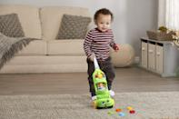 "<p>Kids 2 and up will get a kick out of copying their parents with the help from the <span>LeapFrog Pick Up & Count Vacuum</span> ($28). Available in both pink and green, little ones can pick up ""dust pieces"" that teach them to count.</p>"