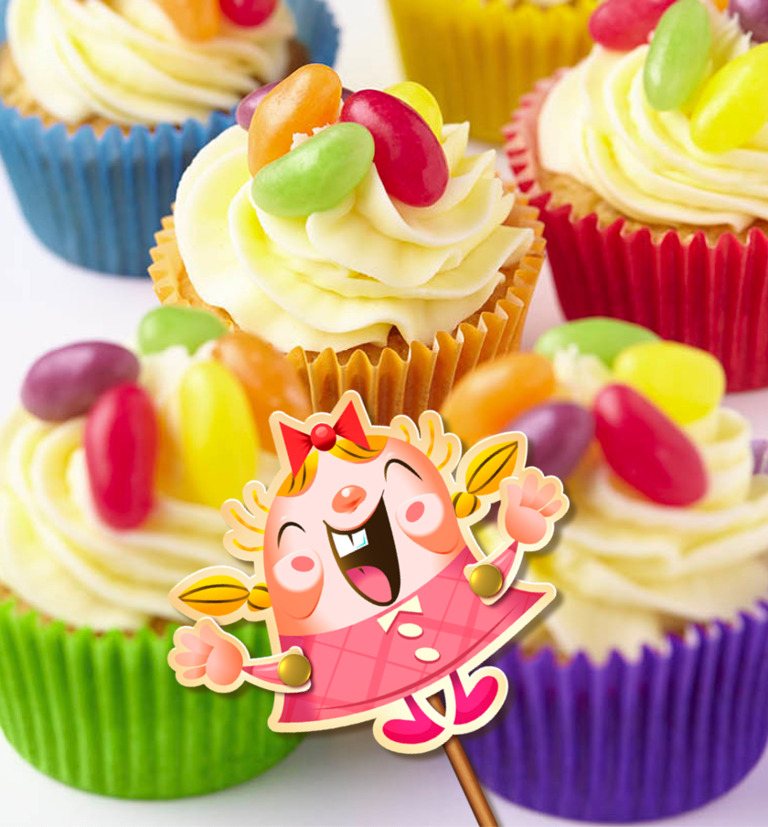 Tiffi's Iced Candy Cupcakes are featured in the Candy Crush Cakes & Bakes Recipe Book. (Photo: Candy Crush)