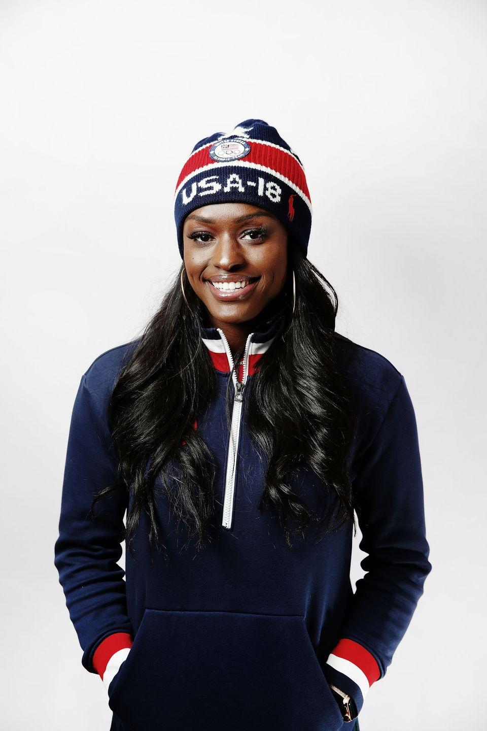 """<p><strong>Sport: </strong>Bobsled</p><p>Though she was an All-American track and field star in college, following an ACL injury, Evans set her sites on bobsledding. <a href=""""https://www.teamusa.org/usa-bobsled-skeleton-federation/athletes/aja-evans"""" rel=""""nofollow noopener"""" target=""""_blank"""" data-ylk=""""slk:Just two years after starting the sport"""" class=""""link rapid-noclick-resp"""">Just two years after starting the sport</a>, she won an Olympic bronze medal at Sochi in 2014.</p>"""