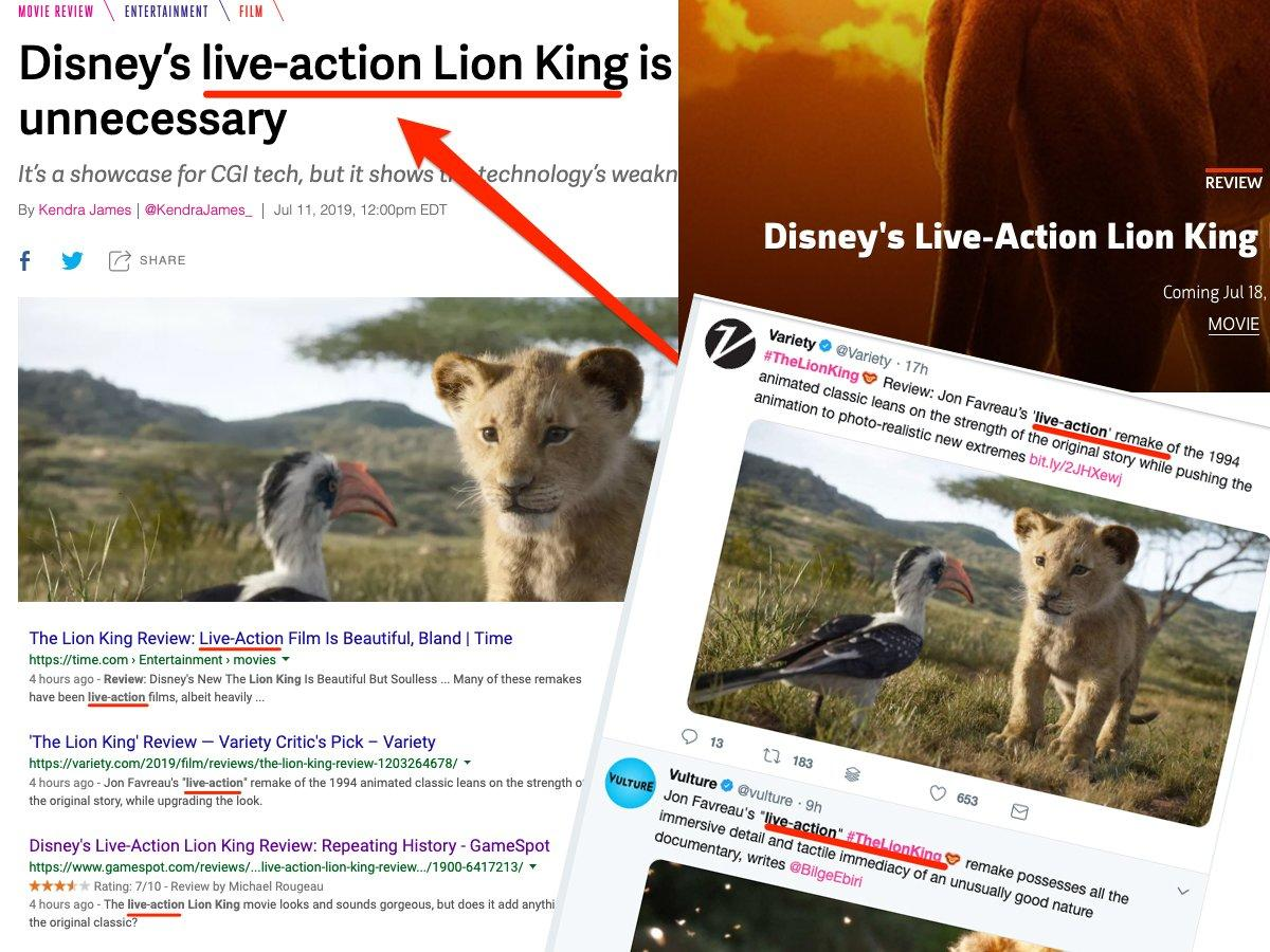 Stop calling Disney's 'Lion King' remake a live-action movie — it's