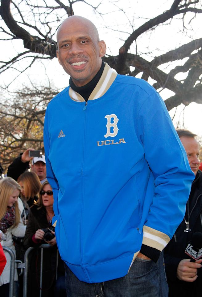 NEW YORK, NY - NOVEMBER 22:  Kareem Abdul Jabbar 86th Annual Macy's Thanksgiving Day Parade on November 22, 2012 in New York City.  (Photo by Laura Cavanaugh/Getty Images)