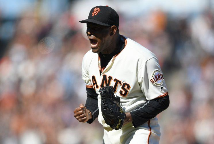 Santiago Casilla is headed back to the other of the bay after reaching two-year agreement with the A's. (Getty Images)