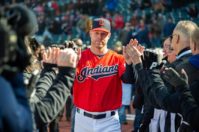 "Fantasy gamers lost the services of <a class=""link rapid-noclick-resp"" href=""/mlb/players/9048/"" data-ylk=""slk:Corey Kluber"">Corey Kluber</a> early this season — but he's making his way back to action. (Photo by Jason Miller/Getty Images)"