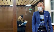 Pussy Riot activist Maria Alyokhina detained at a district court on Friday