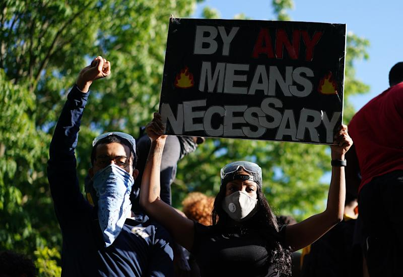 Demonstrators protesting the death of George Floyd near the White House on May 31, 2020, in Washington, D.C. (Photo: MANDEL NGAN via Getty Images)