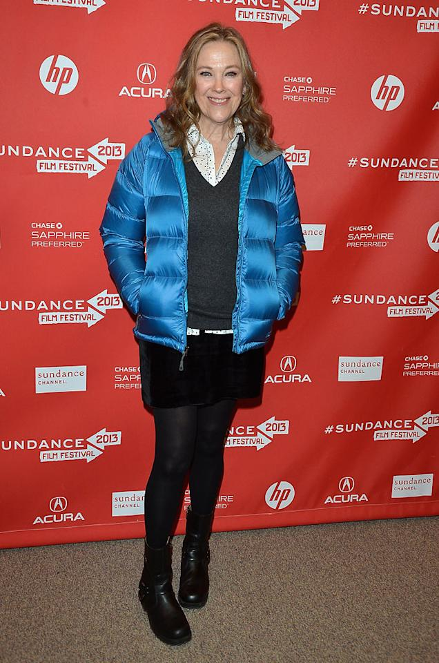 "PARK CITY, UT - JANUARY 23:  Actress Catherine O'Hara attends the ""A.C.O.D"" Premiere during the 2013 Sundance Film Festival at Eccles Center Theatre on January 23, 2013 in Park City, Utah.  (Photo by George Pimentel/Getty Images)"