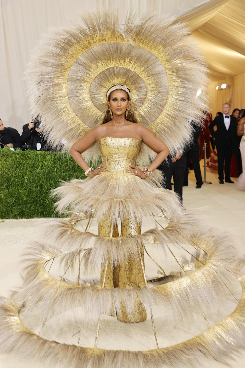 """<h1 class=""""title"""">Iman, The 2021 Met Gala Celebrating In America: A Lexicon Of Fashion - Arrivals</h1><cite class=""""credit"""">Photo: Getty Images</cite>"""