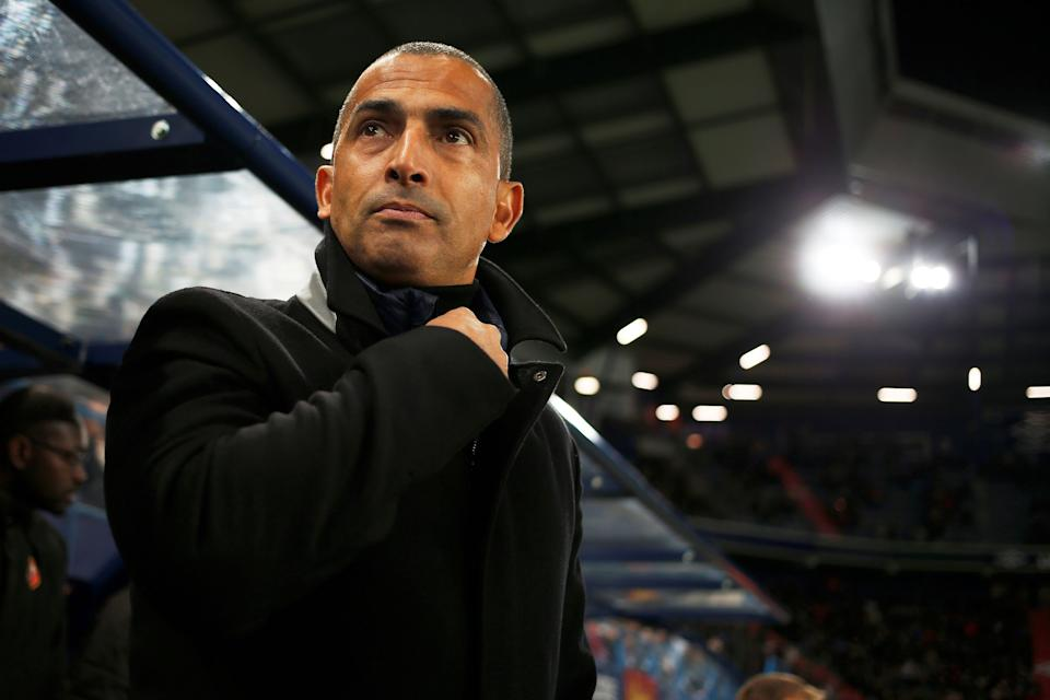 Sabri Lamouchi managing Rennes  (Photo credit should read CHARLY TRIBALLEAU/AFP/Getty Images)