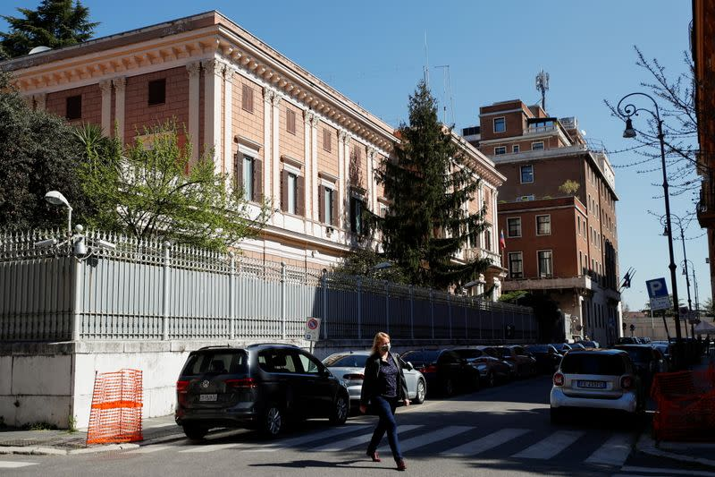 General view of the Russian Embassy in Rome
