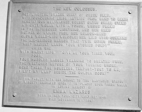 <span>Emma Lazurus wrote the poem made famous by being placed on the statue's base</span> <span>Credit: AP Photo/File </span>
