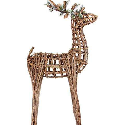 Large Twig Reindeer Decoration