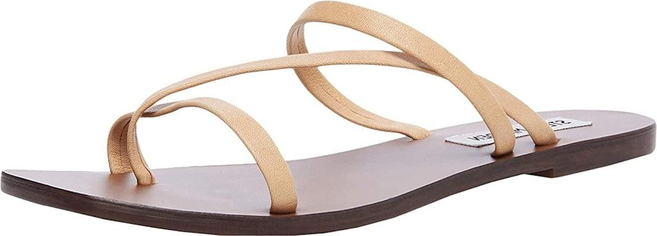 <p>The <span>Steve Madden Janessa Flat Sandal</span> ($31) will be your favorite companion.</p>